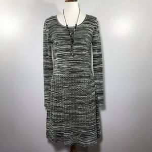 CYNTHIA ROWLEY Gray Knit Sweater Dress Size XL